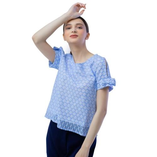 Foto Produk Vili Lace Blue Top - S dari Voerin Official
