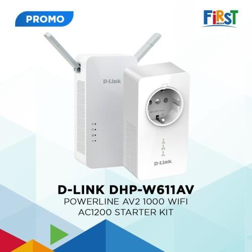 Foto Produk Wifi Extender Dlink DHP-W611AV AV2 1000 Wifi AC1200 Starter Kit dari First Media Store