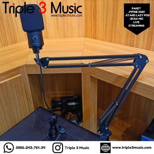 Foto Produk Paket Microphone Gamers Youtuber Recording Fifine K669B ORIGINAL dari triple3music