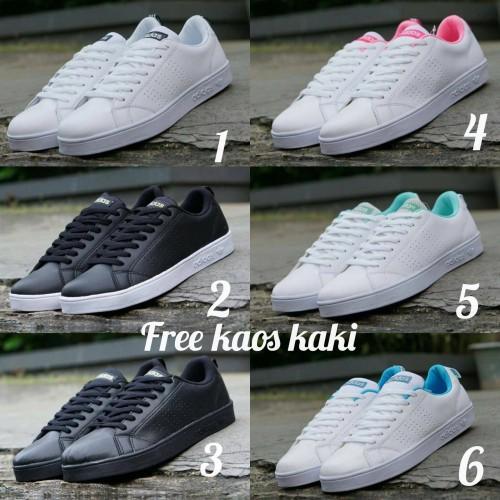 Foto Produk Adidas Advantage Import size 36 - 40 sepatu wanita full white putih - Satu, 39 dari eno ajjh