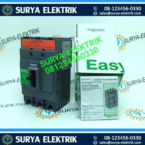 Foto Produk Mccb Schneider EZC100N EZC 100N 3P 63A 63 A Amper 3 Phase EasyPact dari SURYA-ELEKTRIK