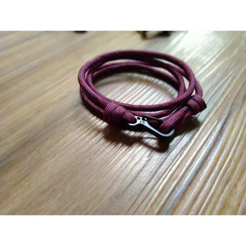 Foto Produk GELANG PRIA TALI PARACORD TALI PRUSIK LOOP STYLE WITH CLIP 02 dari Bagia online shop
