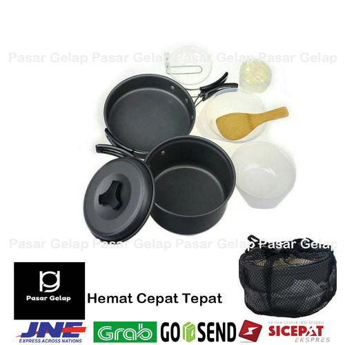 Foto Produk Nesting Cooking set 2 orang Ds 200 panci camping not consina dari Pasar Gelap