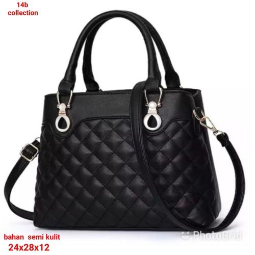 Foto Produk Alica Handbag Tas Wanita Semi Kulit Tas Wanita Murah Handbag Wanita - Hitam dari SUPERSTORE1