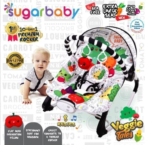 Foto Produk Sugar Baby Bouncer Swing Recline 10 in 1 - Merah Muda dari Papamama Babyshop