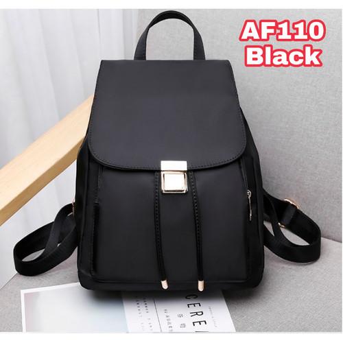 Foto Produk tas ransel wanita Backpack punggung import Sekolah Kuliah Kerja 113 - Hitam dari BarakAllah Store