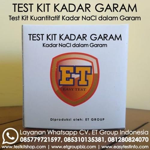 Foto Produk Test Kit Kadar Garam NaCl Semi Kuantitatif merk ET dari easytest