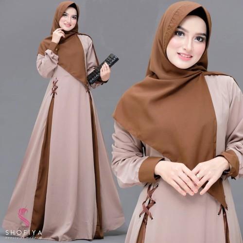 Foto Produk Baju Gamis Syari Wanita Muslim Terbaru Hanumi Dress Termurah dari hijabafwa