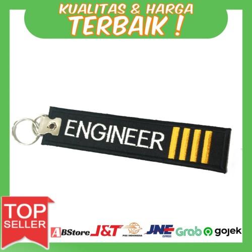 Foto Produk Gantungan Kunci Motor/Mobil Bordir Engineer IIII dari AB Embroidery Store