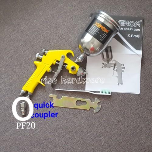 Foto Produk spray gun F75G F75 tabung atas 400ml dari rise hardware jakarta