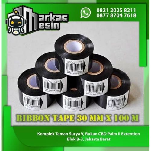 Foto Produk Ribbon Tape 30 mm x 100 m LC1 Pita coding Tinta cetak expired date - 30 mm dari MARKAS MESIN