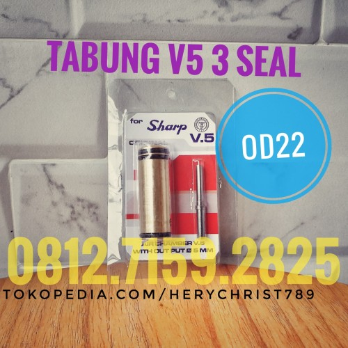 Foto Produk Tabung V5 od22 - Siap pakai - Merah dari herychrist789