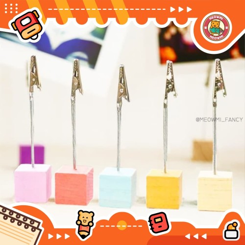 Foto Produk Cube wire clip holder for Photo card note memo MB0032 - green dari Meowmi Fancy Gift Shop