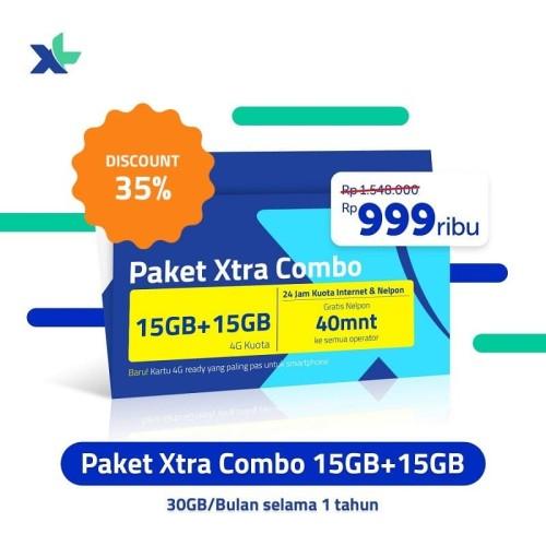 Foto Produk XL Xtra Combo 15 GB + 15 GB - 12 Bulan dari XL Axiata