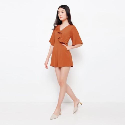 Foto Produk Chocochips - Alena Romper Rust - Orange, S dari Chocochips Official Shop