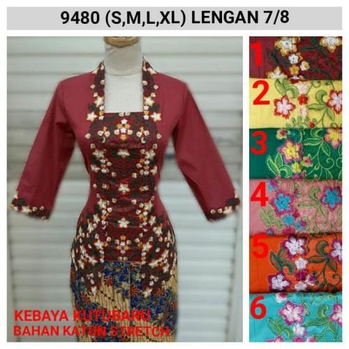 Foto Produk 9365 Kebaya Modern Encim Murah Bordir S M L XL dari Indah Kebaya Jkt