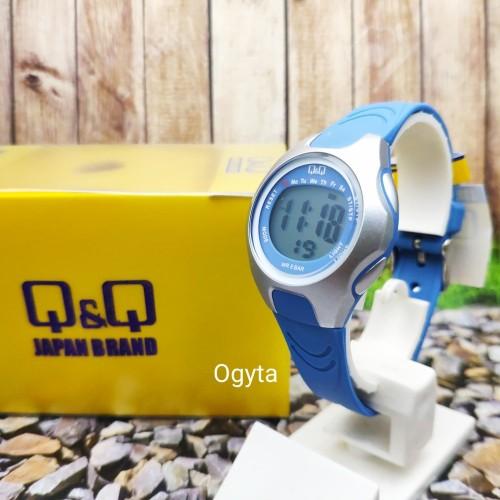 Foto Produk Q&Q QQ QnQ Digital Jam Tangan Wanita Strap Biru M195J003Y Original dari Ogyta Shop