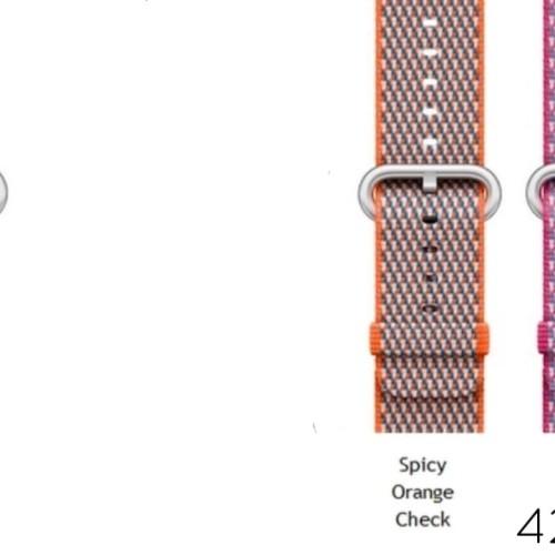 Foto Produk Apple Watch 42MM Woven Nylon Strap Komplit ada 7 Warna (OEM) dari Roxy Acc