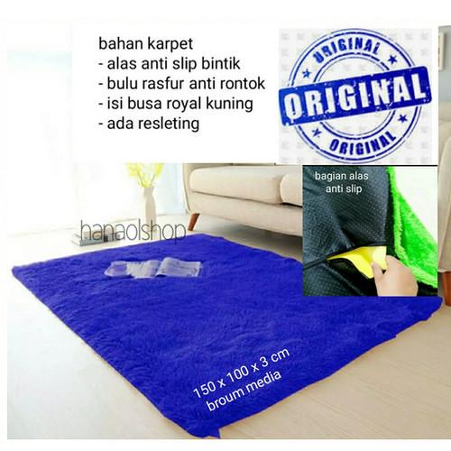 Foto Produk Karpet Bulu rasfur 100 x 150 cm halus reftur Isi Busa Empuk dari BROUMmedia
