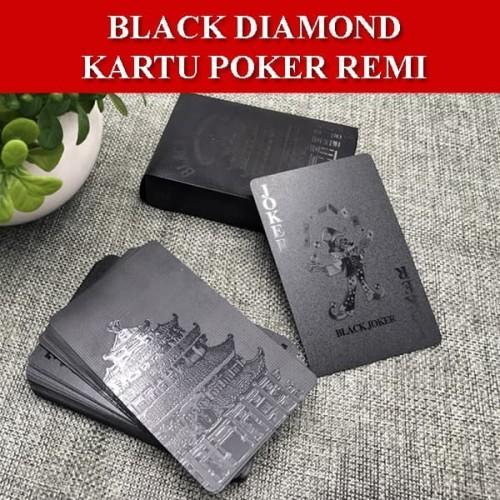 Foto Produk Black Diamond Kartu Poker Remi Plastik Waterproof dari GemsTronic