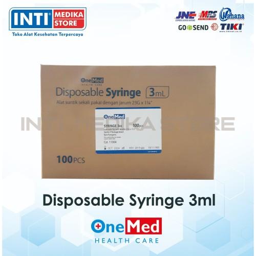 Foto Produk ONEMED Spuit 3cc / Syringe onemed 3cc/ Jarum Suntik 3cc dari INTI MEDIKA STORE