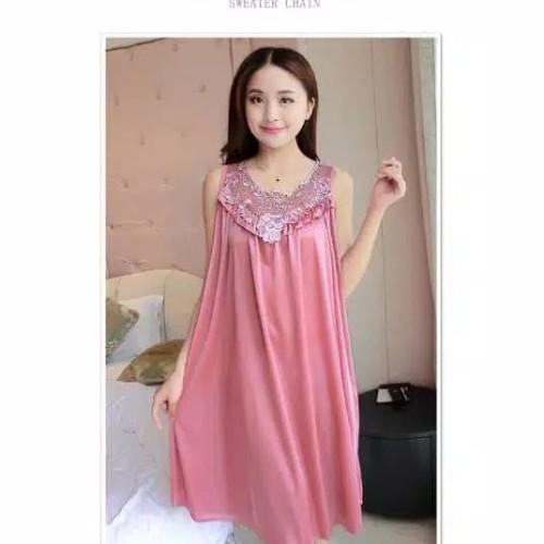 Foto Produk Daster baju tidur wanita jumbo Fit to XXL satin murah berkualitas dari kei kei store