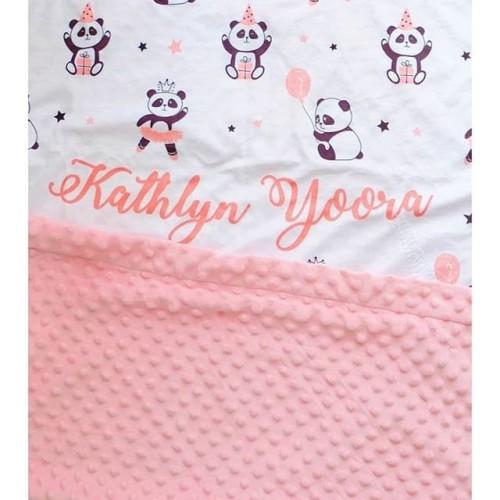 Foto Produk Custom Nama Selimut Bayi / Baby & Anak Minky Pattern(BINDING BORDER) - S dari CUDDLER