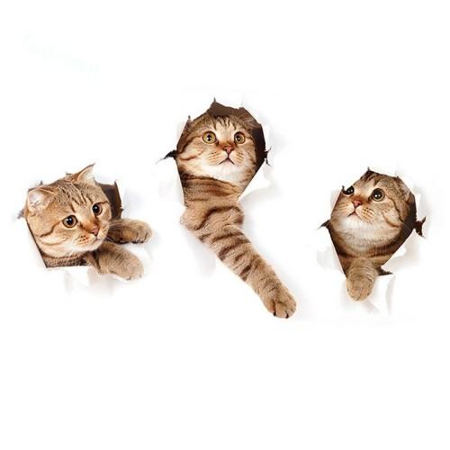 Jual Stiker 3d Removable Gambar Kucing Kartun Lucu Kab Bogor Queen 77 Tokopedia