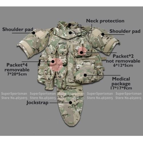 Foto Produk Military Tactical Army Men Camouflage Hunting Vest Police Combat Armor dari toko-happy aja