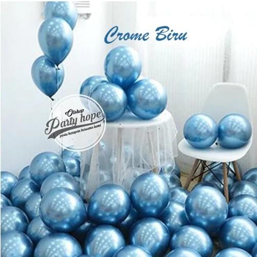 Foto Produk Balon Chrome Biru / Balon Metalik Chrome / Ballon Latex Metalic Chrome dari PARTY HOPE 2