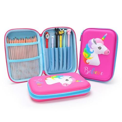 Foto Produk TP0057 Tempat Pensil EVA Unicorn 3D Believe Pencil Case - Biru Muda dari EnnWen Online Store
