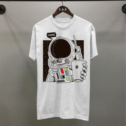 Foto Produk T-shirt Ast Coffee / Baju Kaos Distro Pria Wanita Hitam Cotton 30s dari revenge eleven