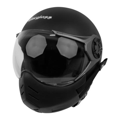 Foto Produk Cargloss YRM Retro + Masker YRM Helm Halfface- Black Doff - L dari Helm Cargloss