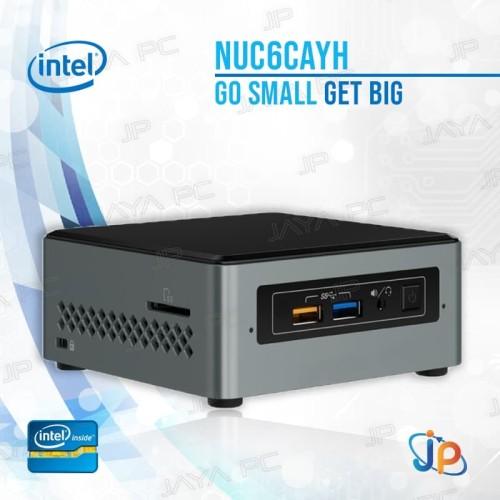 Foto Produk Intel Nuc Mini Pc NUC6CAYH Kit Barebone - Intel Celeron Quadcore J3455 dari Jaya PC