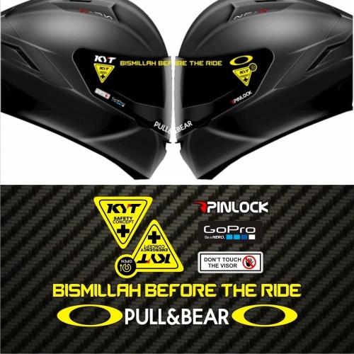Foto Produk Value Set Paket Stiker Helm KYT Bismillah Before The Ride dari @helm_nation
