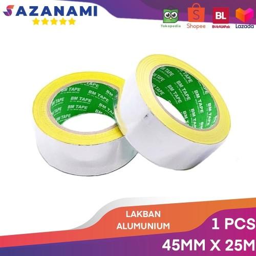 """Foto Produk LAKBAN ALUMINIUM FOIL TAPE 2"""" X 25M ALUMUNIUM TAPE TAHAN PANAS dari Sazanami Tape"""
