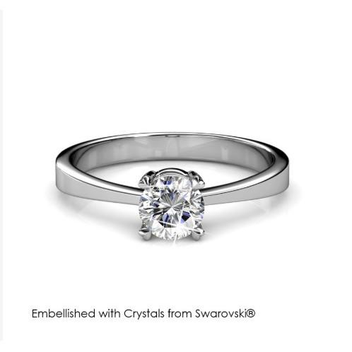 Foto Produk SweetHeart Ring - Cincin Crystal Swarovski by Her Jewellery - 6 dari Her Jewellery