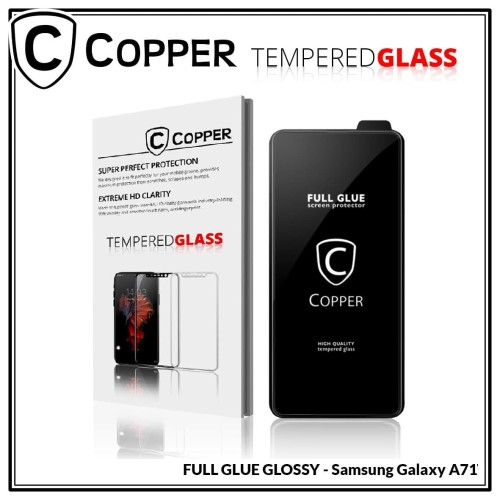 Foto Produk Samsung Galaxy A71 - COPPER Tempered Glass FULL GLUE PREMIUM GLOSSY dari Copper Indonesia
