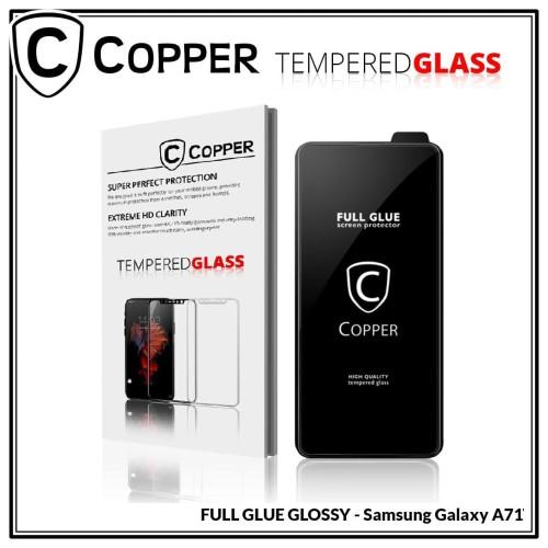 Foto Produk Samsung Galaxy A71 - COPPER Tempered Glass FULL GLUE PREMIUM GLOSSY - TG GLOSSY dari Copper Indonesia