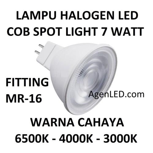 Foto Produk Lampu HALOGEN LED 7W COB MR 16 spot sorot 7 w watt hallogen TUSUK MR16 - Kuning dari AgenLED