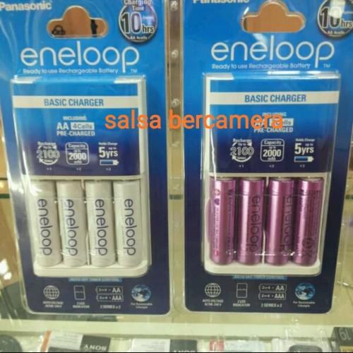 Foto Produk Charger Panasonic Enelop + isi 4 Battery A2 / AA dari salsa bercamera