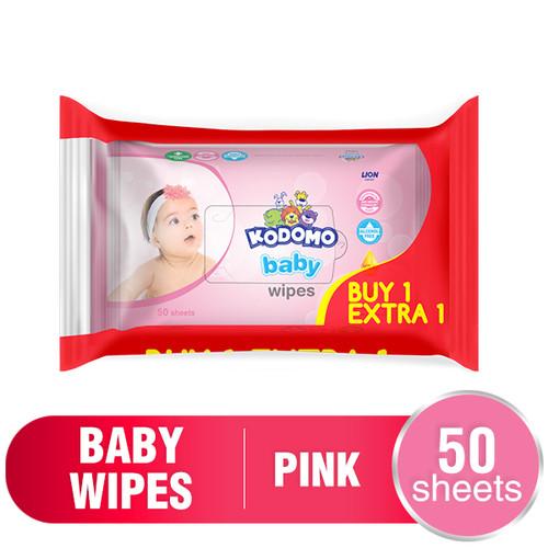 Foto Produk Kodomo Baby Tisu Basah 50 sheets - Rice Milk Pink dari Wings Official Store