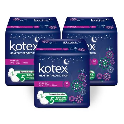 Foto Produk Kotex Healthy Protection Overnight 32 cm 9s 3 Pack dari KOTEX HUGGIES INDONESIA