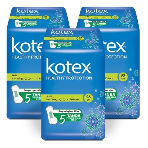 Foto Produk Kotex Healthy Protection Slim Non Wing 20s 3 Pack dari KOTEX HUGGIES INDONESIA
