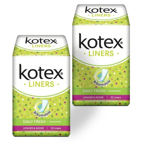 Foto Produk Kotex Liners Longer & Wider Unscented 32s 2 Pack dari KOTEX HUGGIES INDONESIA