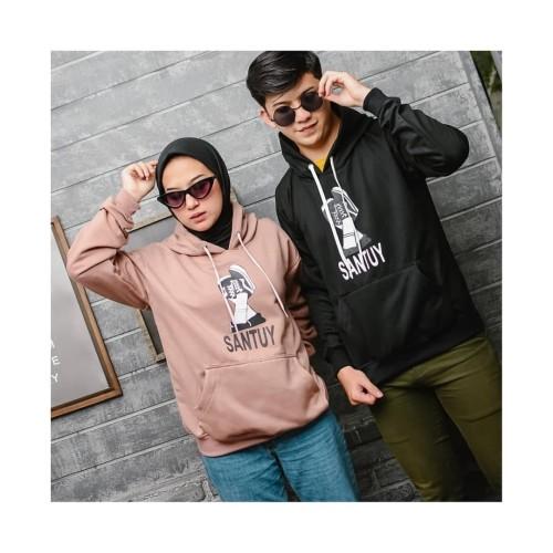 Foto Produk Sweater Hodie Couple Fleece Santuy dari Butik Hijab Humaira
