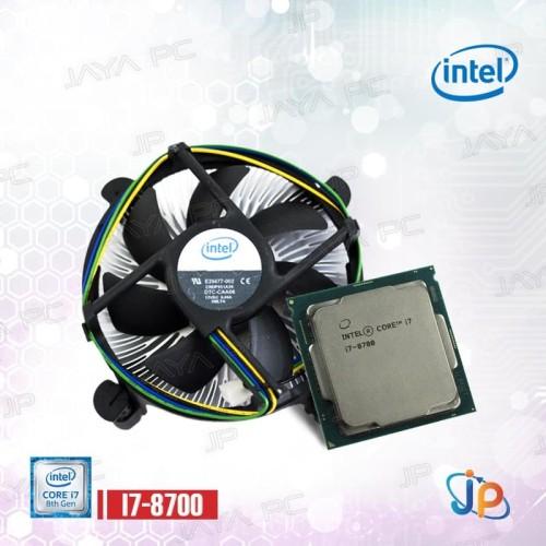 Foto Produk Processor Intel Core I7 8700 Tray Coffee Lake Socket LGA 1151 + Fan dari Jaya PC