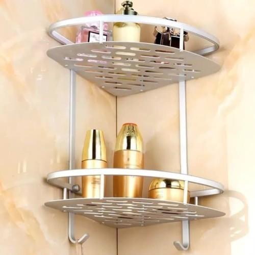 Foto Produk Rak Kamar Mandi Sudut Stainless Tempat Sabun Peralatan Mandi dari Karlina Online