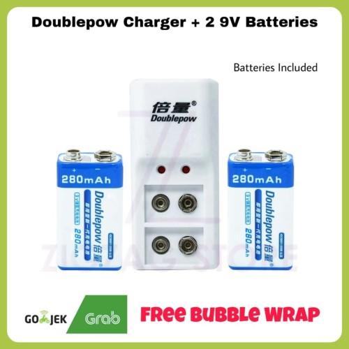 Foto Produk Doublepow Charger + 2 9V Batteries dari ZigZag-Store