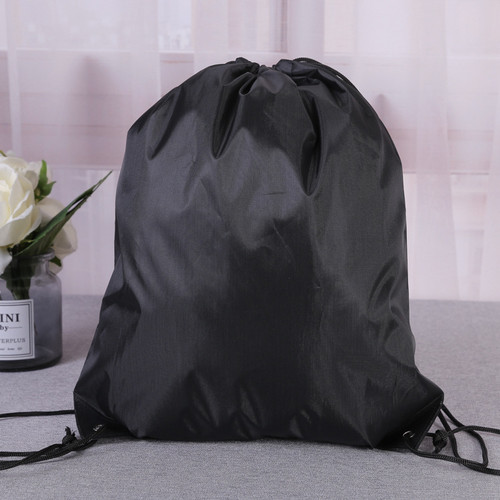 Foto Produk FREEKNIGHT Tas Serut Polos String Bag Tas Anti Air Tas Serut TR105 - Hitam dari Freeknight